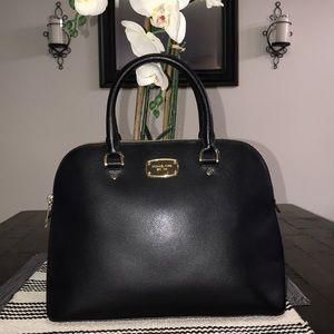 Michael Kors Lg Cindy Domed Satchel Pebble Leather